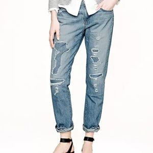 J Crew Broken in Boyfriend Jeans Halsey Wash